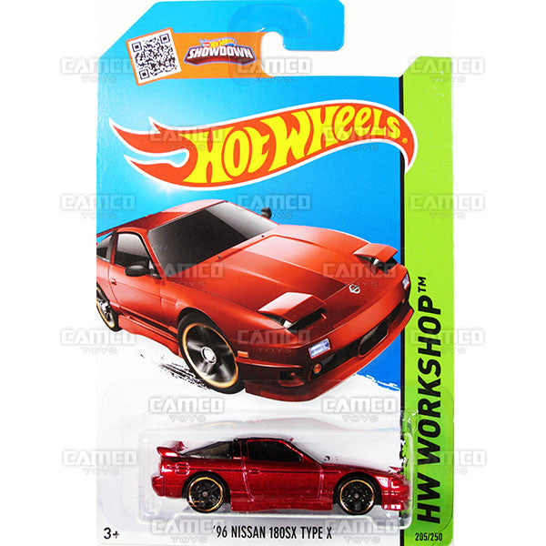 96 Nissan 180SX Type X #205 red (HW Workshop) - 2015 Hot Wheels Basic Mainline C4982
