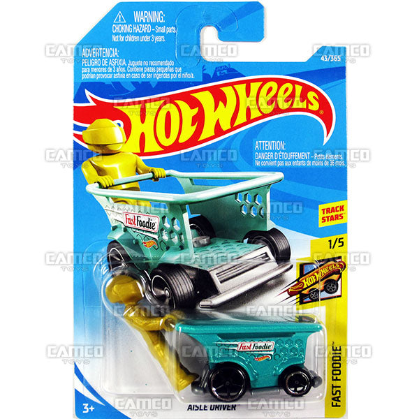 Aisle Driver 43 Teal 2018 Hot Wheels Basic B Case Assortment Camco Toys