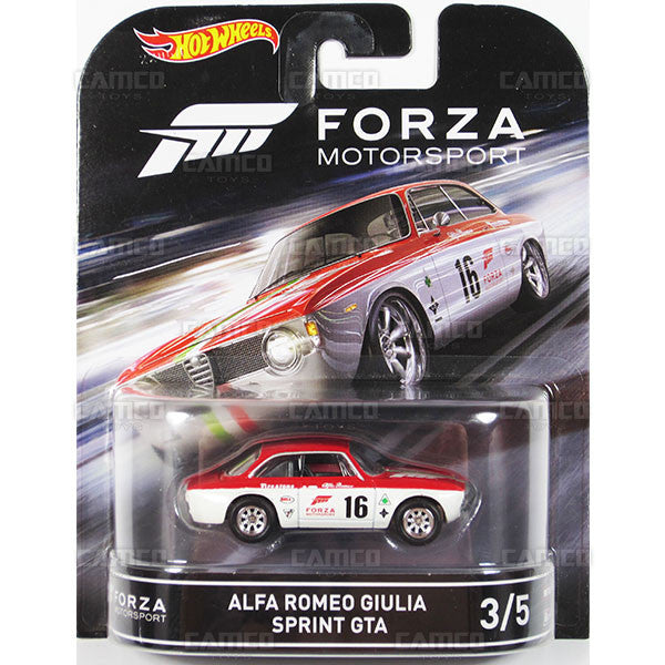 ALFA ROMEO GIULIA SPRINT GTA - 2016 Hot Wheels Retro Entertainment D Case (FORZA Motorsport) Assortment DMC55-959D by Mattel