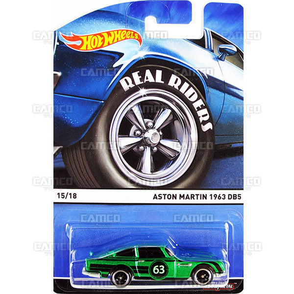 Aston Martin 1963 DB5 - 2015 Hot Wheels Heritage E Case (Real Riders) Assortment BDP91-956E by Mattel.