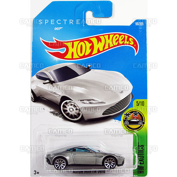 Aston Martin DB10 #96 silver SPECTRE James Bond 007 (HW Exotics) - from 2017 Hot Wheels basic mainline D case Worldwide assortment C4982 by Mattel.