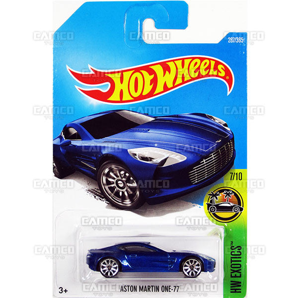 Aston Martin One-77 #287 blue (HW Exotics) - 2017 Hot Wheels Basic Mainline M Case - C4982