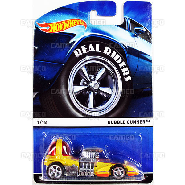 Bubble Gunner - 2015 Hot Wheels Heritage A Case (Real Riders) Assortment BDP91-956A by Mattel.