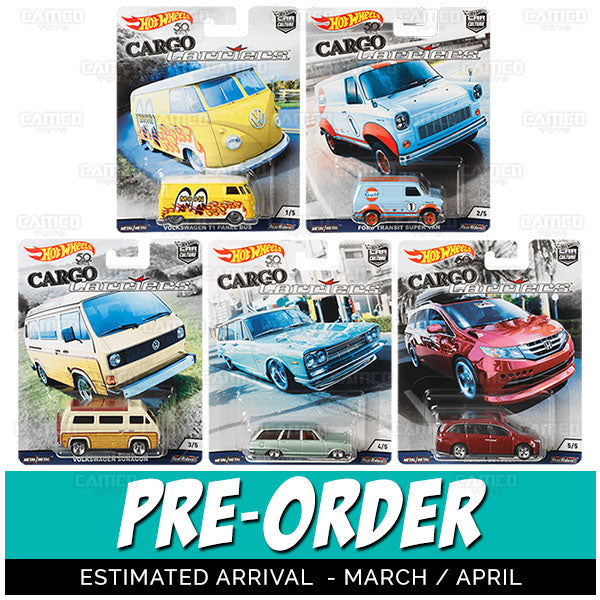 Cargo Carriers 2018 Hot Wheels Car Culture Factory Sealed B Case