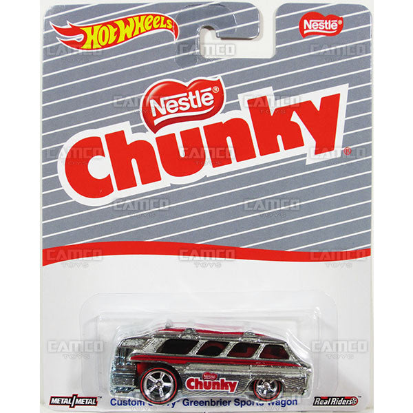 CUSTOM CHEVY GREENBRIER SPORT WAGON (Chunky) - from 2016 Hot Wheels Pop Culture A Case (NESTLE) Assortment DLB45-956A by Mattel.