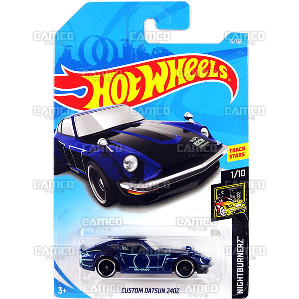 CUSTOM DATSUN 240z #15 blue (NightBurnerz) - 2018 Hot Wheels Basic Mainline A Case Assortment C4982 by Mattel.