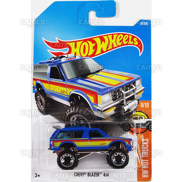 Chevy Blazer 4x4 #34 blue (HW Hot Trucks) - from 2017 Hot Wheels basic mainline B case Worldwide assortment C4982 by Mattel.