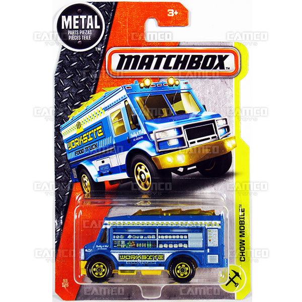 Chow Mobile #53 (Worksite Food Truck) - from 2017 Matchbox Basic Case Assortment 30782 by Mattel.