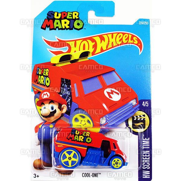 Cool-One #224 Super Mario (HW Screen Time) - from 2016 Hot Wheels Basic Case Worldwide Assortment C4982 by Mattel.