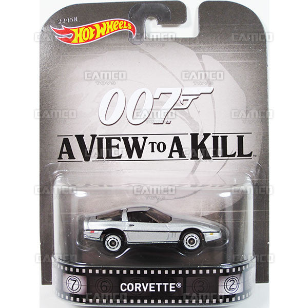 CORVETTE (James Bond 007) - 2015 Hot Wheels Retro Entertainment J Case BDT77-996J by Mattel