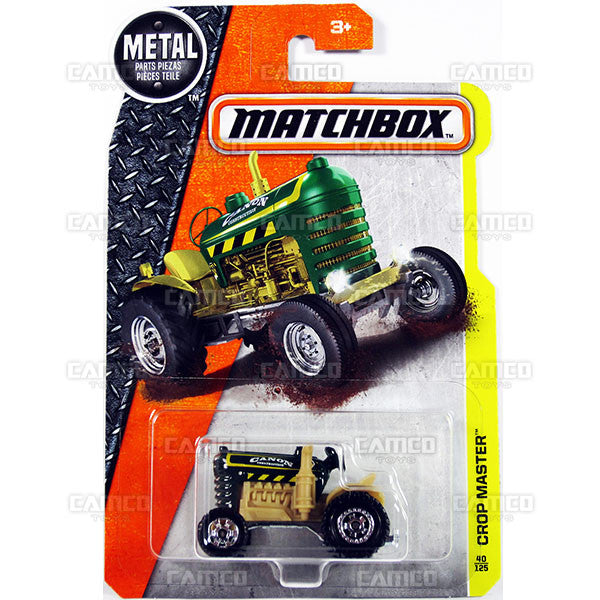 Crop Master #40 green - from 2017 Matchbox Basic A Case Assortment 30782 by Mattel.