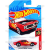 Custom 67 Pontiac Firebird #128 red - 2018 Hot Wheels Basic Mainline F Case Assortment C4982 by Mattel.