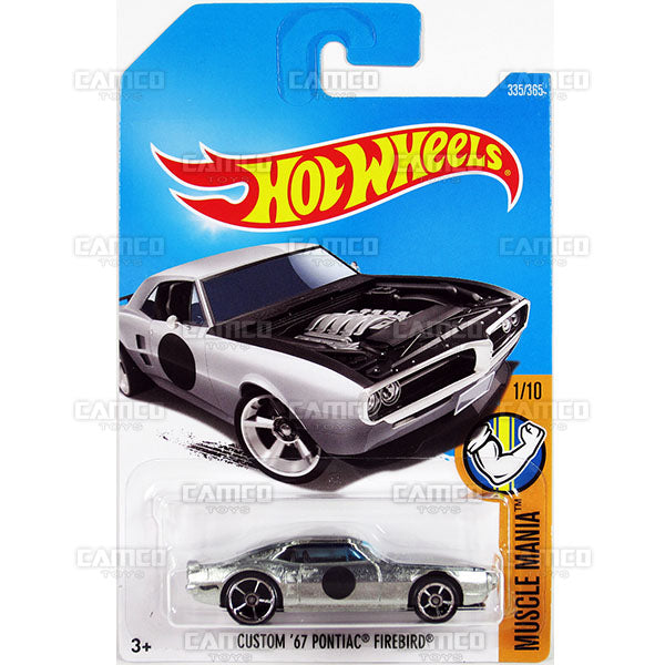 Custom 67 Pontiac Firebird #335 zamac (Muscle Mania) - 2017 Hot Wheels Basic Mainline Q Case assortment C4982  by Mattel.