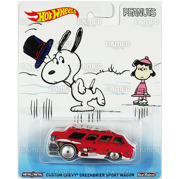 CUSTOM CHEVY GREENBRIER SPORT WAGON (Snoopy's Christmas) - from 2016 Hot Wheels Pop Culture E Case (PEANUTS) Assortment DLB45-956E by Mattel.