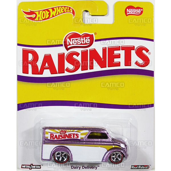 DAIRY DELIVERY (Raisinets) - from 2016 Hot Wheels Pop Culture A Case (NESTLE) Assortment DLB45-956A by Mattel.