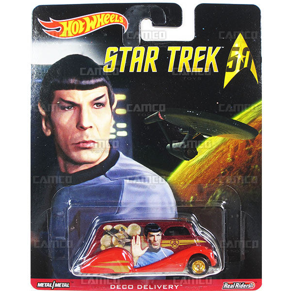 DECO DELIVERY (Spock) - from 2016 Hot Wheels Pop Culture B Case (STAR TREK 50th Anniversary) Assortment DLB45-956B by Mattel.