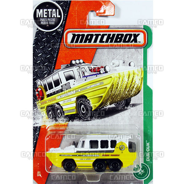DUK-DUK #89 yellow EL Segundo Duck Tours - 2017 Matchbox Basic L Case Assortment 30782 by Mattel.