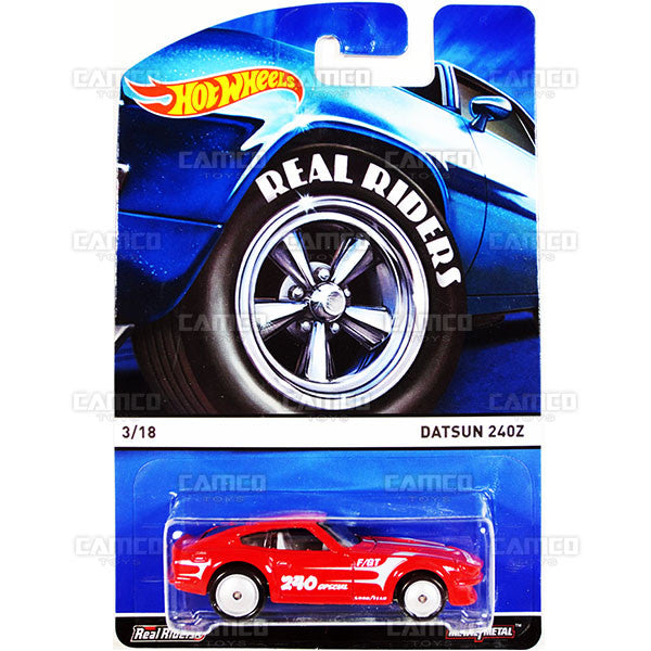 Datsun 240z - 2015 Hot Wheels Heritage A Case (Real Riders) Assortment BDP91-956A by Mattel.