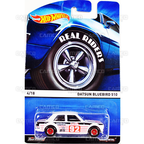 Datsun Bluebird 510 - 2015 Hot Wheels Heritage A Case (Real Riders) Assortment BDP91-956A by Mattel.