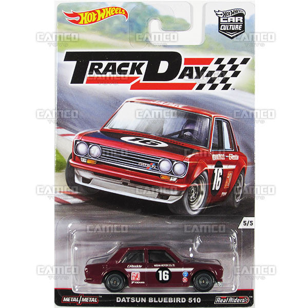 DATSUN BLUEBIRD 510 - from 2016 Hot Wheels Car Culture D Case (TRACK DAY) Assortment DJF77-956D by Mattel.