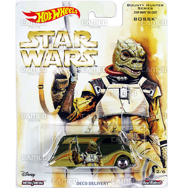 Deco Delivery (Bossk) - 2017 Hot Wheels Pop Culture L Case (Star Wars) Assortment DLB45-956L by Mattel.
