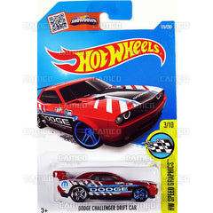 Dodge Challenger Drift Car Red Hot Wheels Basic Case