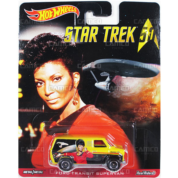 FORD TRANSIT SUPERVAN (Uhura) - from 2016 Hot Wheels Pop Culture B Case (STAR TREK 50th Anniversary) Assortment DLB45-956B by Mattel.