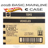 FACTORY SEALED case C - 2018 Hot Wheels (Basic)