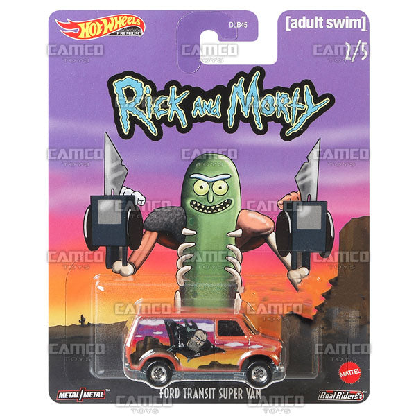 Ford Transit Super Van - 2020 Hot Wheels Premium Pop Culture G Case RICK and MORTY (Adult Swim) Assortment DLB45-946G by Mattel.