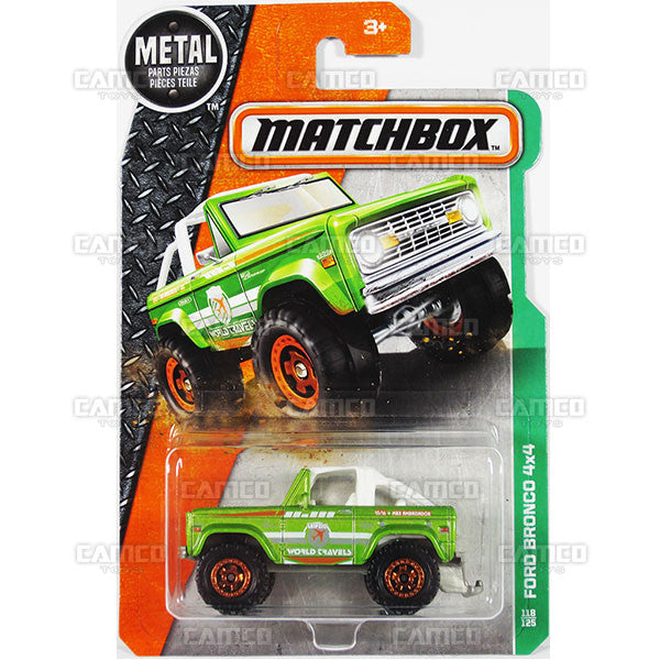 Ford Bronco 4x4 #118 green - from 2016 Matchbox Basic Case Assortment 30782 by Mattel.