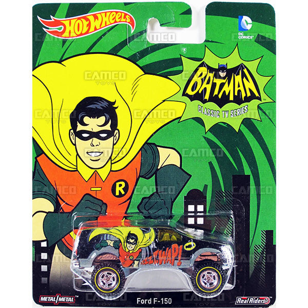 FORD F-150 (Robin) - 2015 Hot Wheels Pop Culture C Case (BATMAN CLASSIV TV SERIES) Assortment CFP34-956C by Mattel.