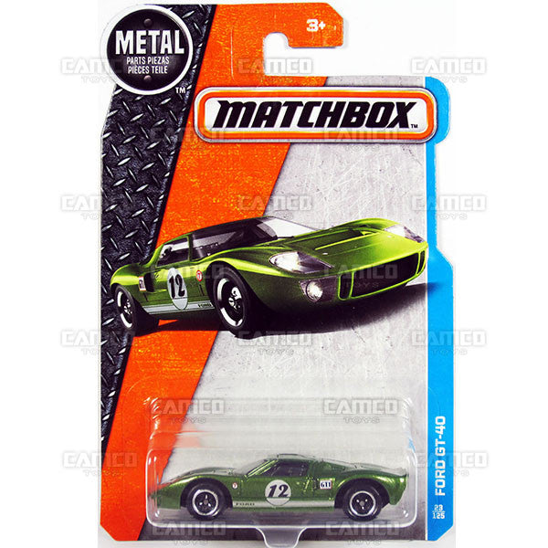 Ford GT-40 #23 green - from 2017 Matchbox Basic B Case Assortment 30782 by Mattel.
