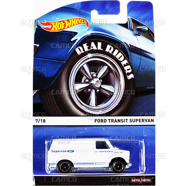 Ford Transit Supervan - 2015 Hot Wheels Heritage C Case (Real Riders) Assortment BDP91-956C by Mattel.