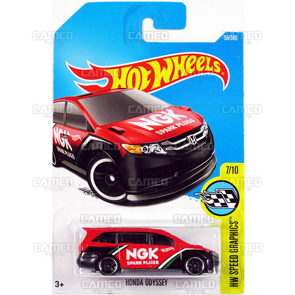 Honda Odyssey #58 red NGK (HW Speed Graphics) - from 2017 Hot Wheels basic mainline C case Worldwide assortment C4982 by Mattel.