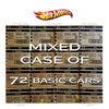 Mixed case of 72 cars from Hot Wheels basic mainline worldwide assortment C4982 by Mattel.