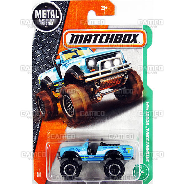 INTERNATIONAL SCOUT 4x4 #116 blue - 2017 Matchbox Basic L Case Assortment 30782 by Mattel.