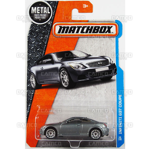 Infiniti G37 Coupe #32 grey - from 2016 Matchbox Basic Case Assortment 30782 by Mattel.