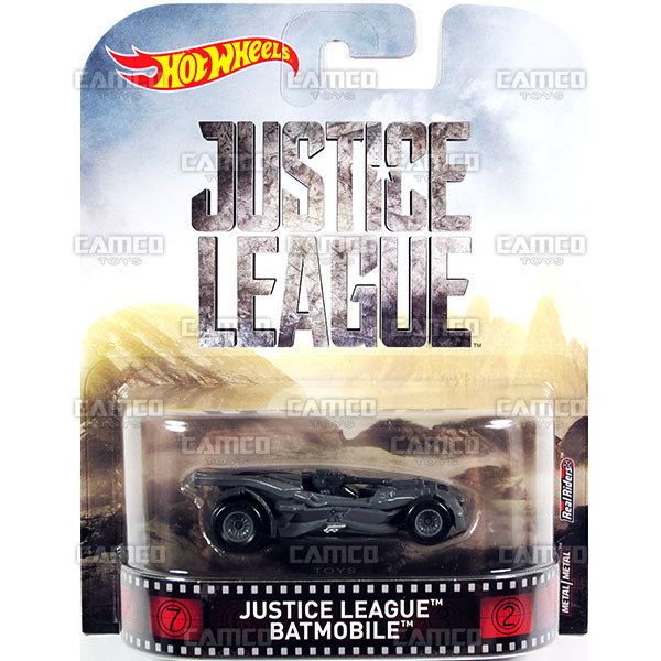 Justice League Batmobile - 2017 Hot Wheels Retro Replica Entertainment D case assortment DMC55-956D