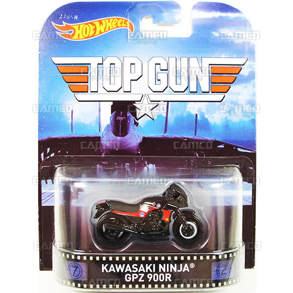 KAWASAKI NINJA GPZ 900R (Top Gun) - 2015 Hot Wheels Retro Entertainment J Case BDT77-996J by Mattel
