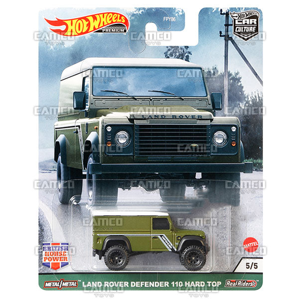 Land Rover Defender 110 Hard Top - 2021 Hot Wheels Car Culture British Horse Power Case A Assortment FPY86-957A by Mattel