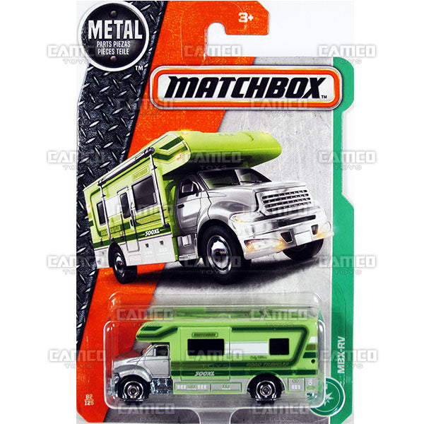 MBX-RV #82 green - 2017 Matchbox Basic L Case Assortment 30782 by Mattel.