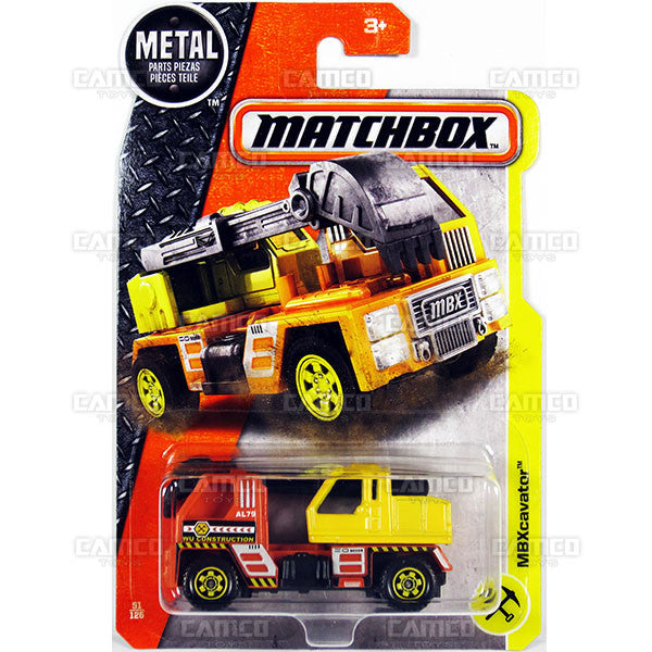 MBXcavator #51 - from 2017 Matchbox Basic J Case Assortment 30782 by Mattel.