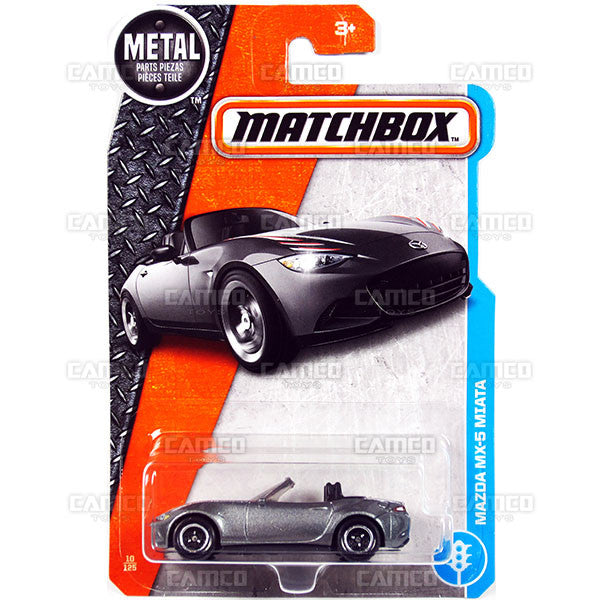 Mazda MX-5 Miata #10 grey - 2017 Matchbox H Case assortment 30782 by Mattel