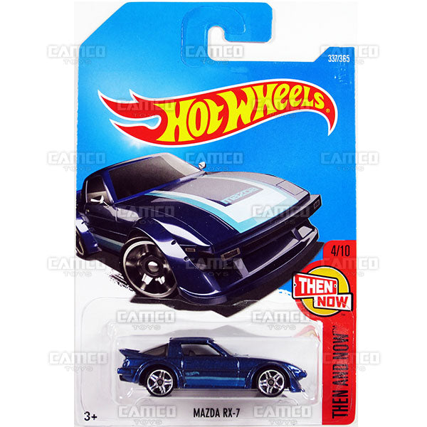Mazda RX-7 #337 blue (Then and Now) - 2017 Hot Wheels Basic Mainline P Case assortment C4982  by Mattel.