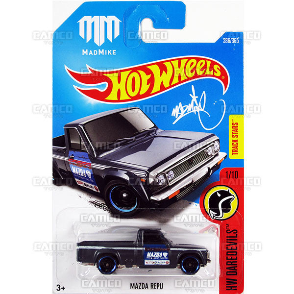 Mazda Repu #286 Mad Mike (HW Daredevils) - 2017 Hot Wheels Basic Mainline M Case - C4982