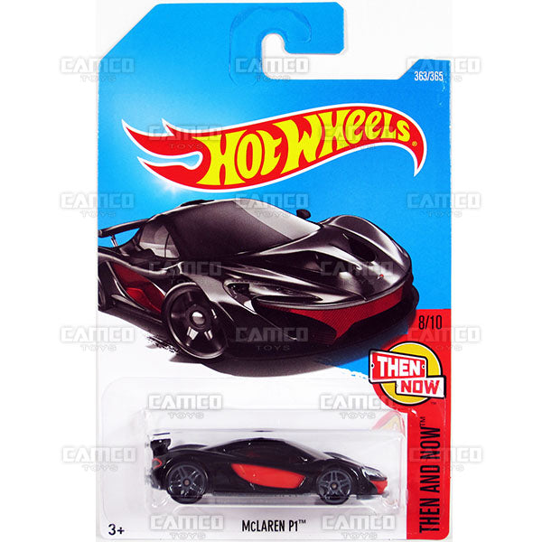McLaren P1 #363 black (Then and Now) - 2017 Hot Wheels Basic Mainline Q Case assortment C4982  by Mattel.