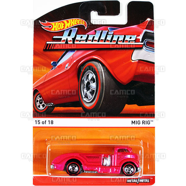 Mig Rig - 2015 Hot Wheels Heritage F Case (Redline) Assortment BDP91-956F by Mattel.