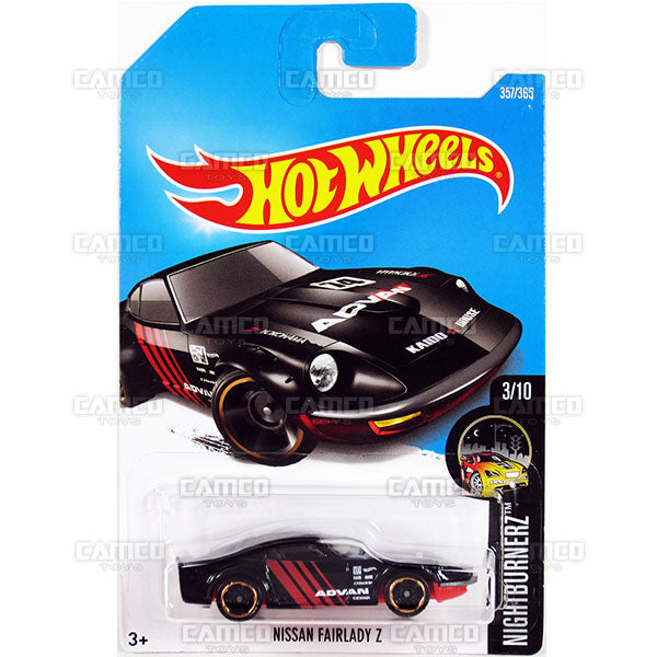 Nissan Fairlady Z #357 black (Nightburnerz) - 2017 Hot Wheels Basic Mainline Q Case assortment C4982  by Mattel.