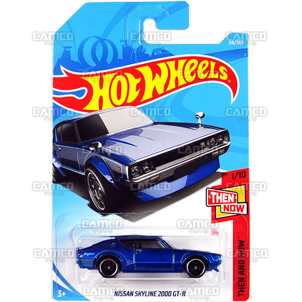 Nissan Skyline 2000 GT-R #118 blue - 2018 Hot Wheels Basic Mainline E Case Assortment C4982 by Mattel.