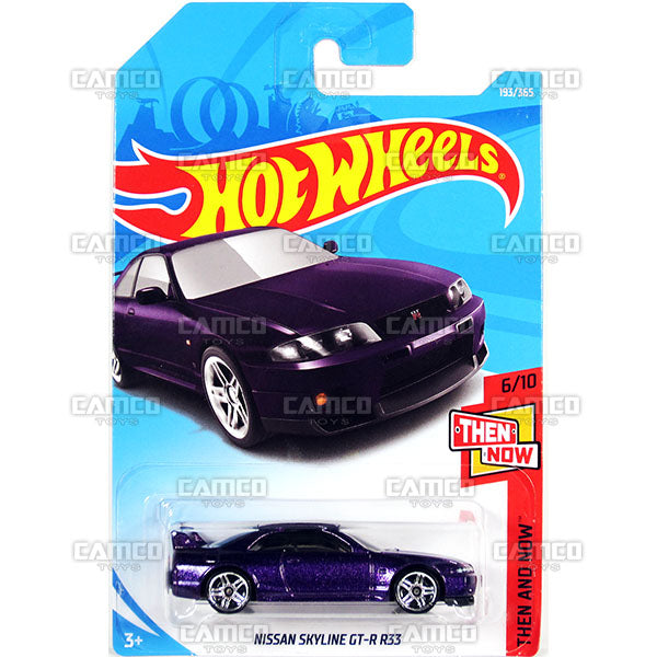 Nissan Skyline GT-R R33 #193 purple - 2018 Hot Wheels Basic Mainline H Case Assortment C4982 by Mattel.
